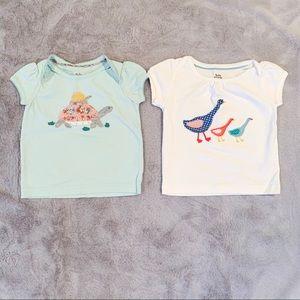 Mini Boden Baby Girl Appliqué T-Shirt Tee 6-12M